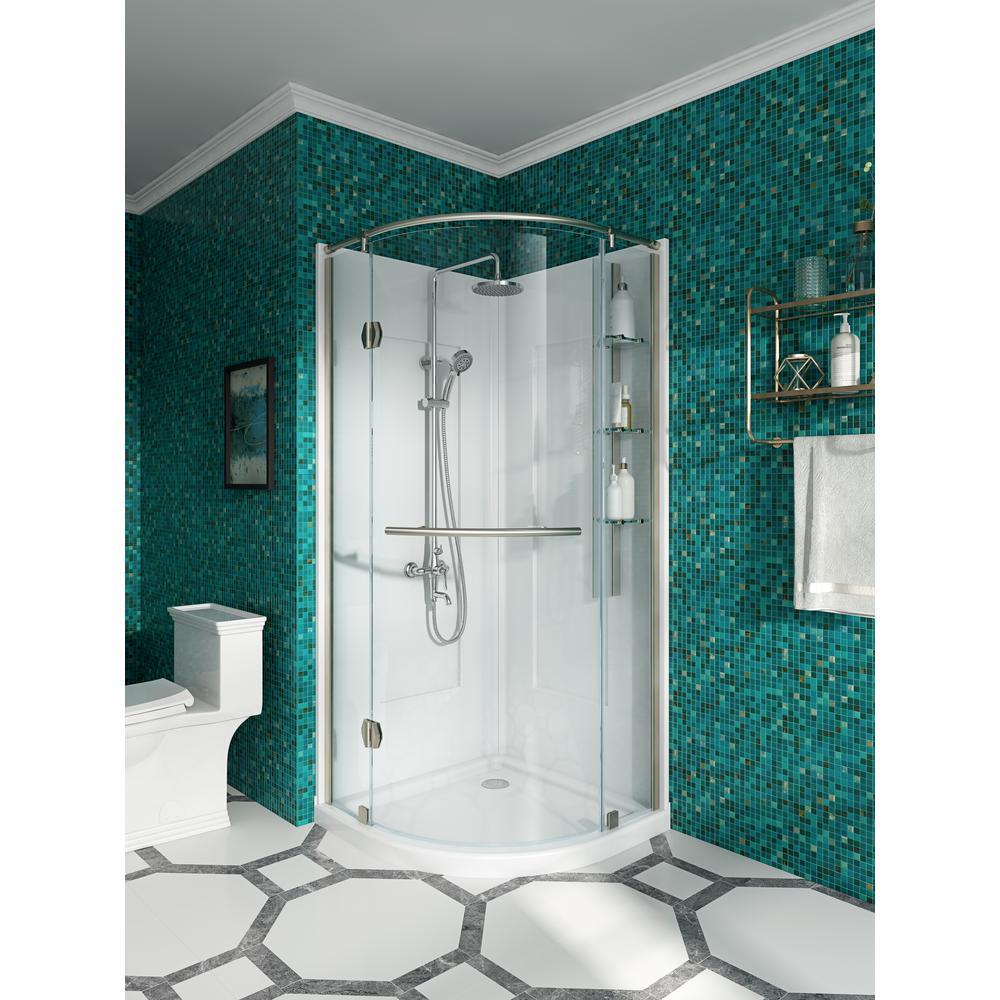 Glacier Bay Glamour 32 In X 76 40 In Corner Drain Corner Shower