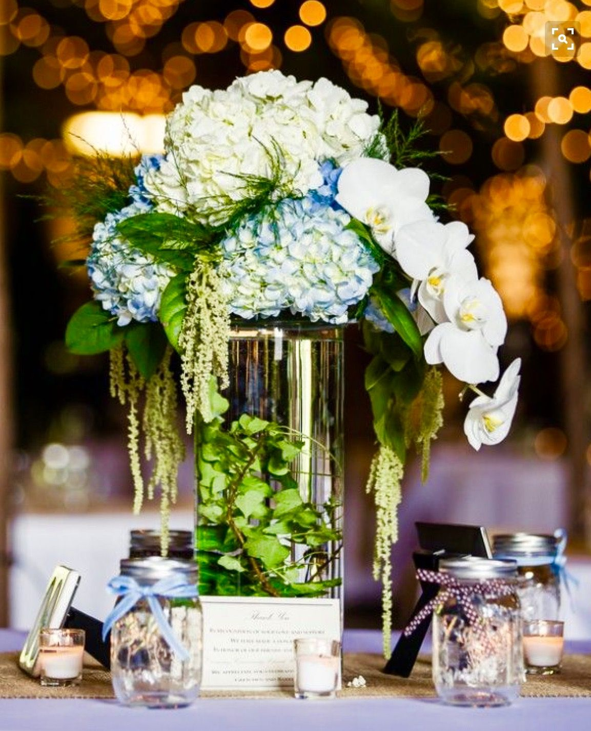Tall Centerpiece Would Use All Blue Hydrangeas: High Centerpiece Wedding Rings At Websimilar.org