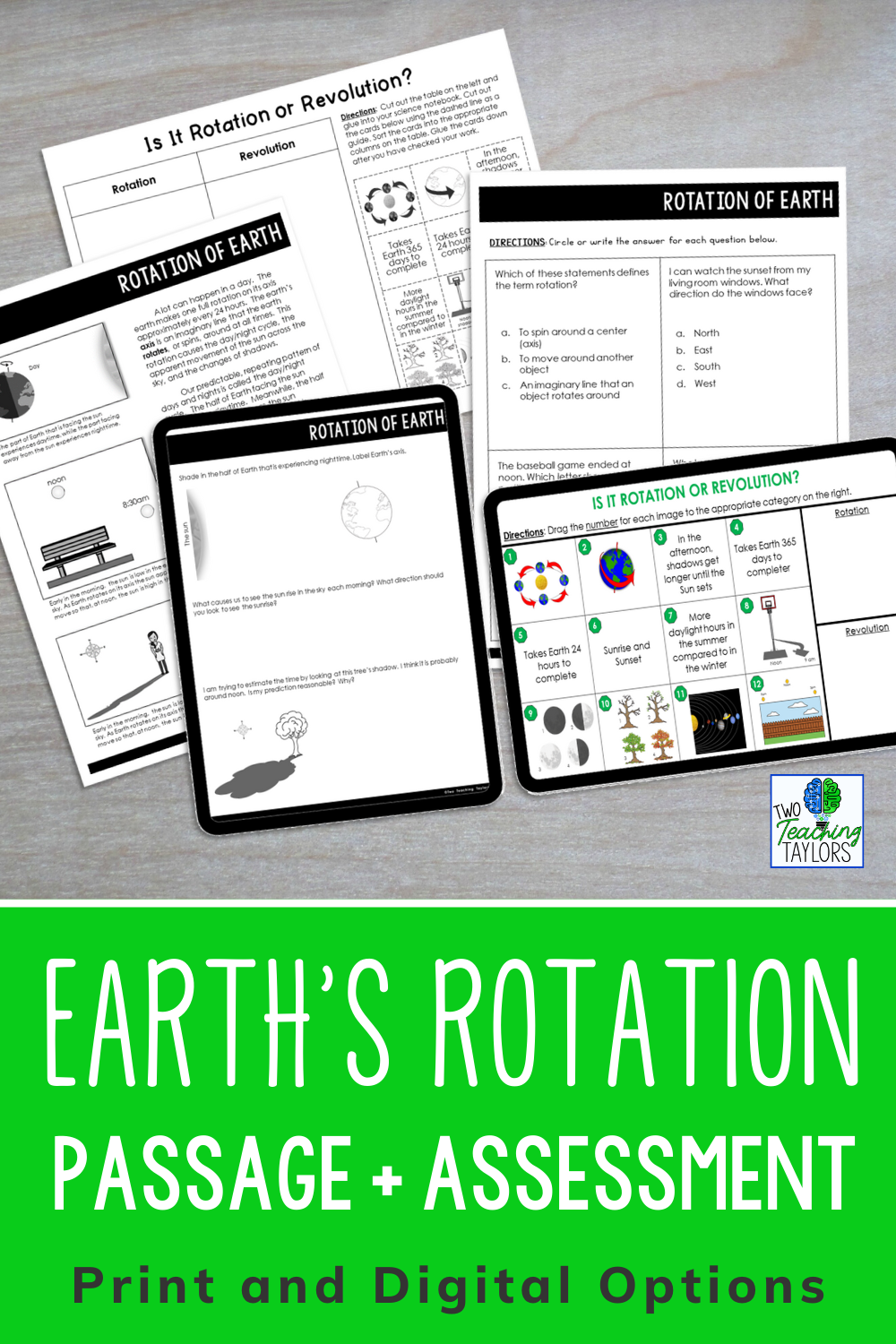 Rotation Of Earth Reading Passage With Comprehension Activities Reading Passages Elementary Science Classroom Upper Elementary Science [ 1500 x 1000 Pixel ]