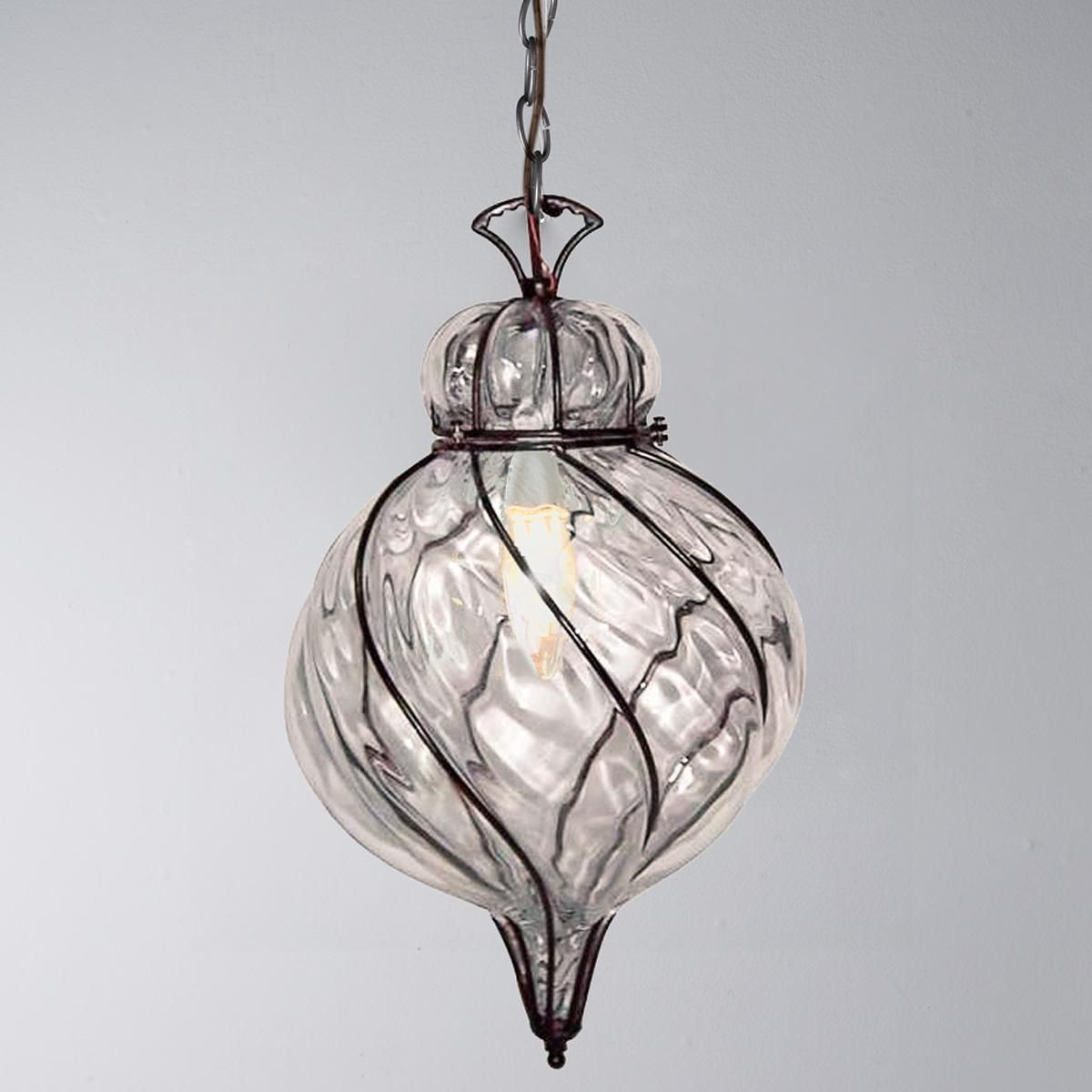 captured glass pendant light - Glass Pendant Lighting