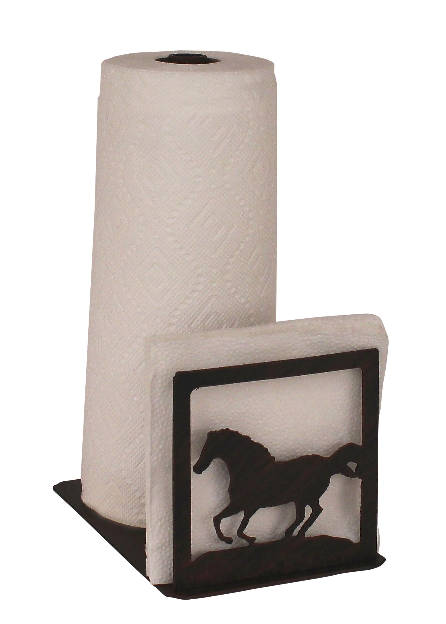 Iron Running Horse Short Paper Towel And Napkin Holder