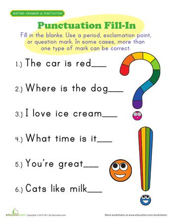 first grade writing skills language art punctuation worksheets first grade writing 1st. Black Bedroom Furniture Sets. Home Design Ideas