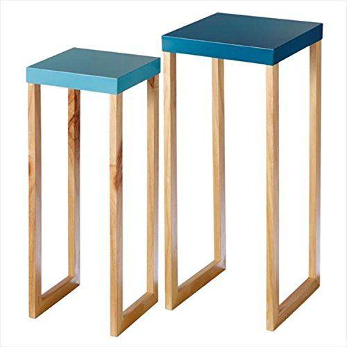 Blaue Tische, Akzent Tische, Bemalte Tische, Nisttische, Moderne Wohnzimmer,  Wohnzimmermöbel, Outlet Store, Sofa