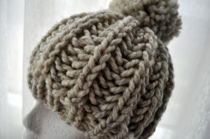Free Pattern: Knit Fisherman Ribbed Hipster Hat   Knitted ...