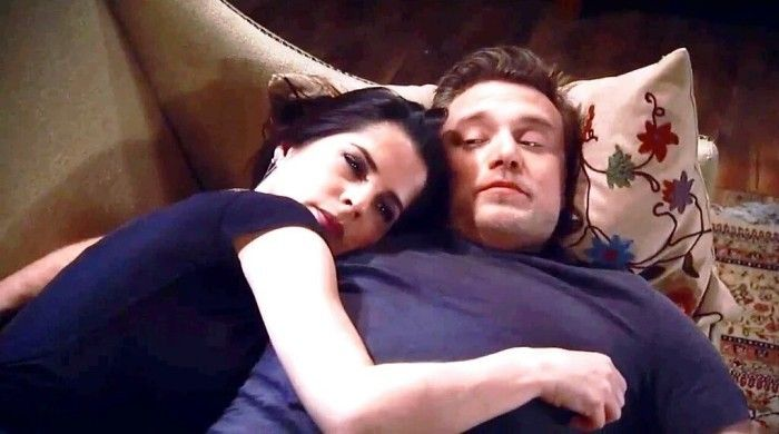 Billy Miller with on-screen partner Kelly Monaco