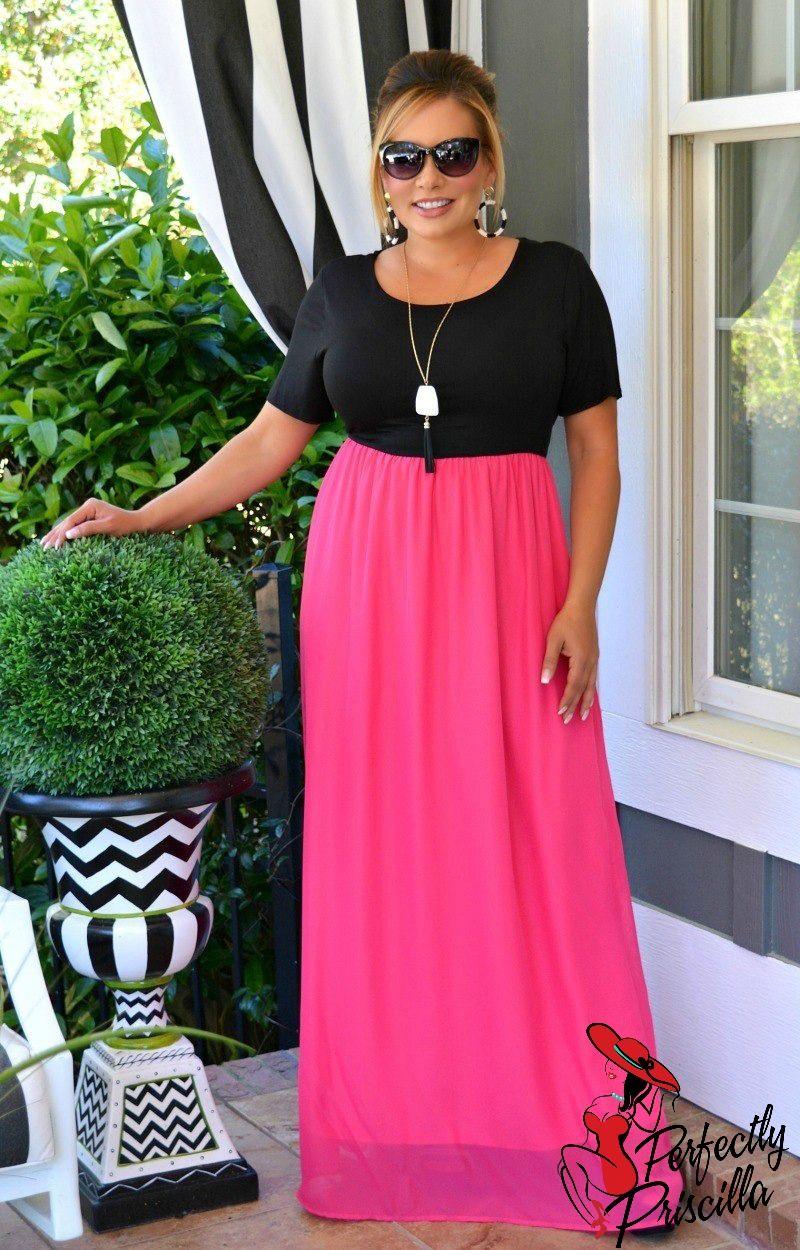 On Target Maxi Dress - Black/Fuchsia in 2019 | 2019 Spring ...