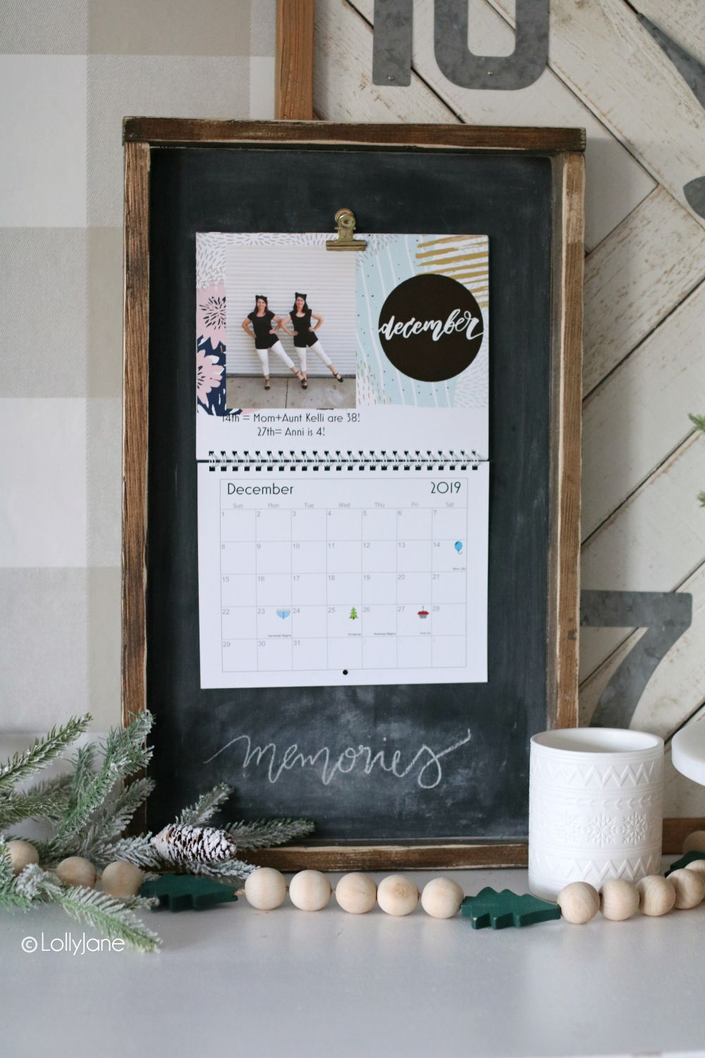 Wood Calendar Holder Lolly Jane Wood Calendar Holder Diy Calendar Wall Wood Calendar