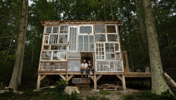 They spent just $500 on their humble, yet stunning, project, which they built entirely by themselves in the wilderness of West Virginia.