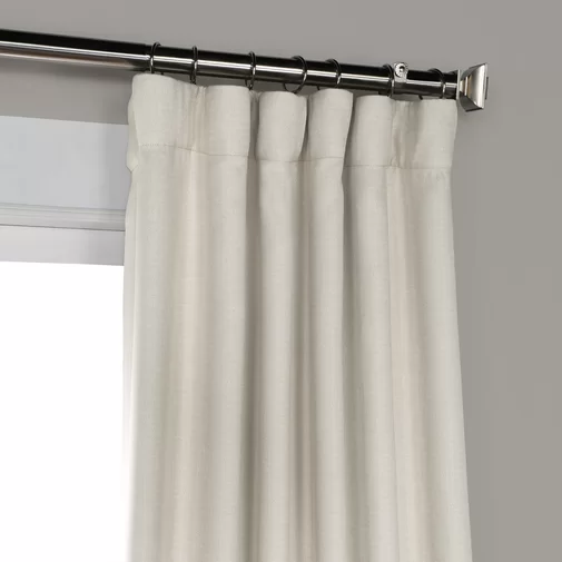Clem Solid Color Room Darkening Rod Pocket Single Curtain Panel Curtains Panel Curtains Linen Blackout Curtains