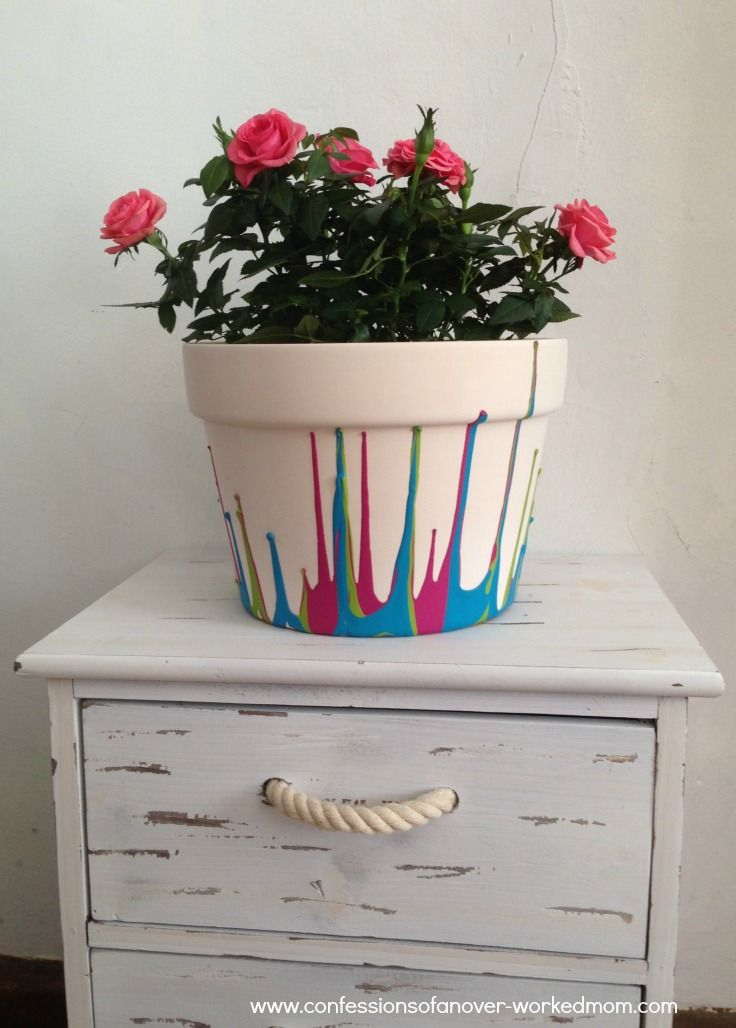 How To Paint A Ceramic Flower Pot Simple Crafts For