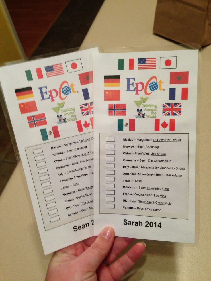 Epcot For Adults Our Homemade Passports To Drink Around The World Disney Epcot Disney Bachelorette Disney World Vacation