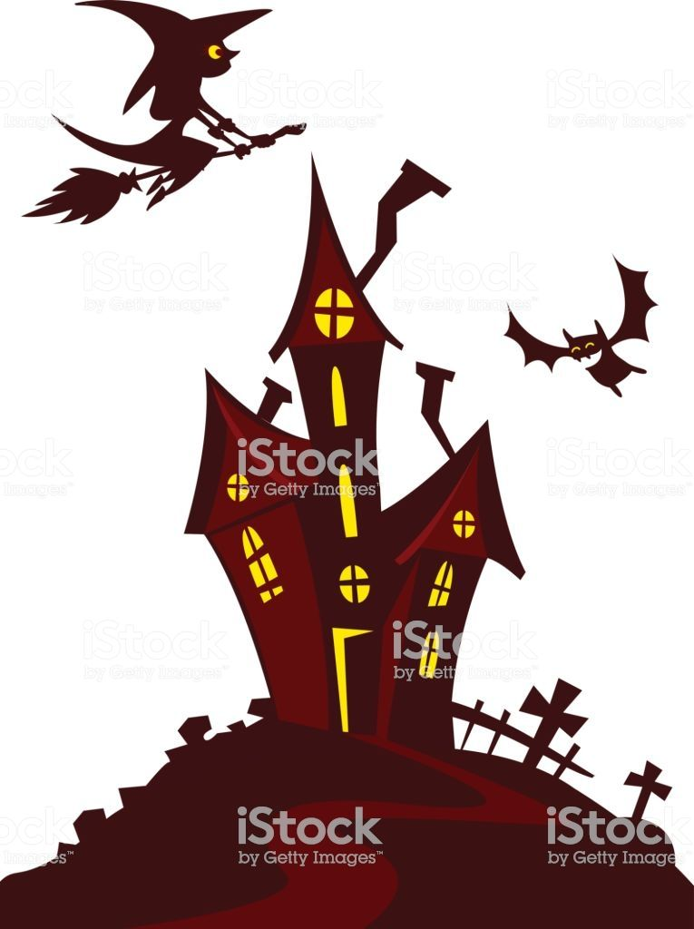Haunted Mansion Spooky Haunted House Vector Illustration