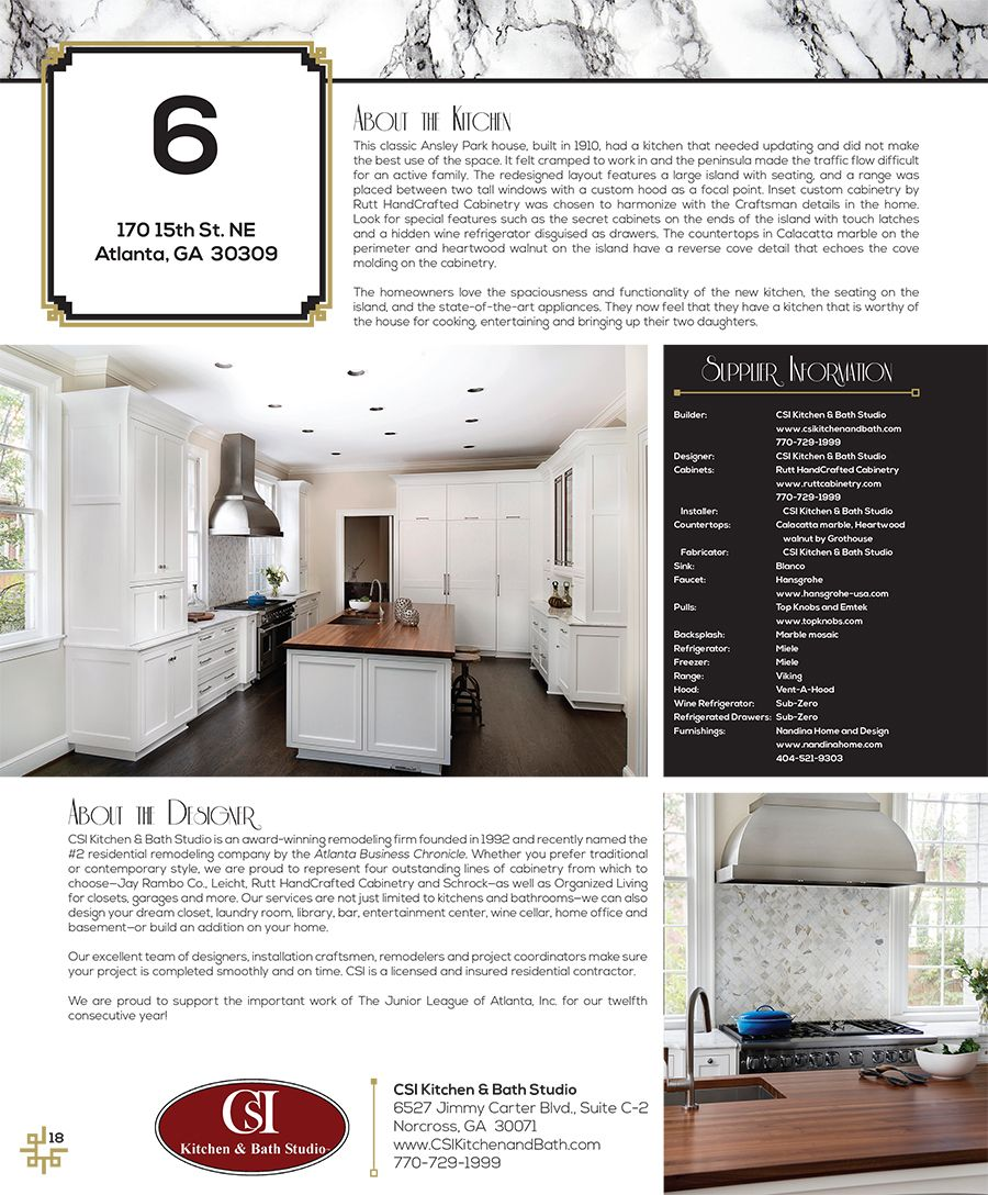 Junior League Tour of Kitchens - Atlanta. Inset custom cabinetry by ...