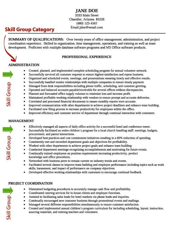 Image result for skill based resume examples CI Pinterest