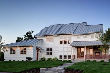 Forward Solar Roofing Is 33 Cheaper Than A Tesla Roof And Can Be Installed In Half The Time Standing Seam Modern Farmhouse House Styles Farmhouse Floor Plans