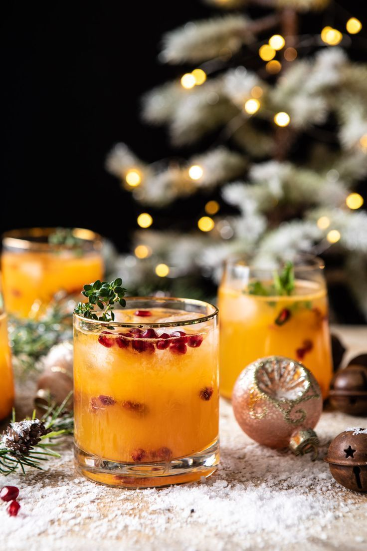 Holly Jolly Christmas Citrus Cocktail. - Half Baked Harvest