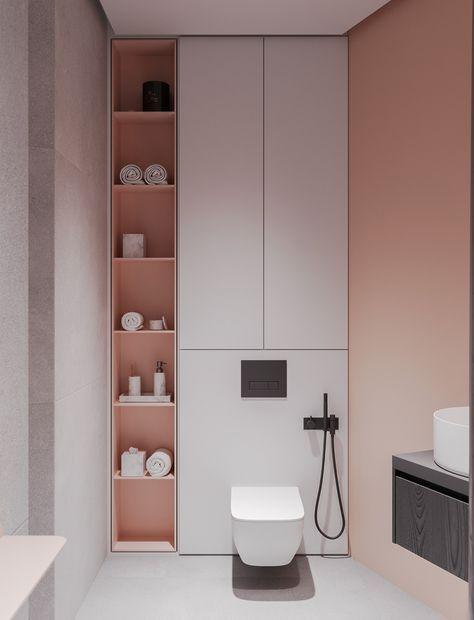 Blush Pink #Bathroomdesign | Bathroom design small modern ...