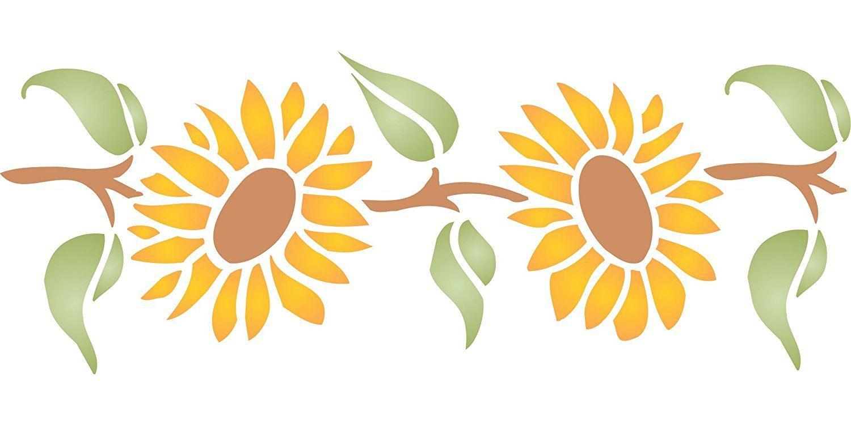 Amazon.com: Sunflower Stencil - (size 11\