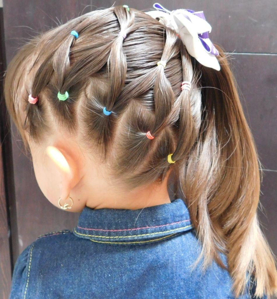 Hermoso peinado de red con ligas para niÑa peinados de niñas