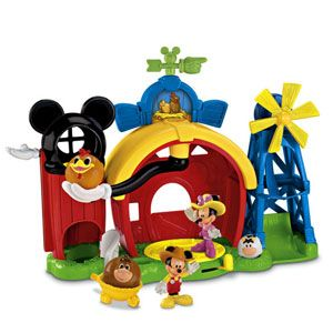 Disney Mickey Mouse Mickey/'s Dairy Farm Exclusive Playset