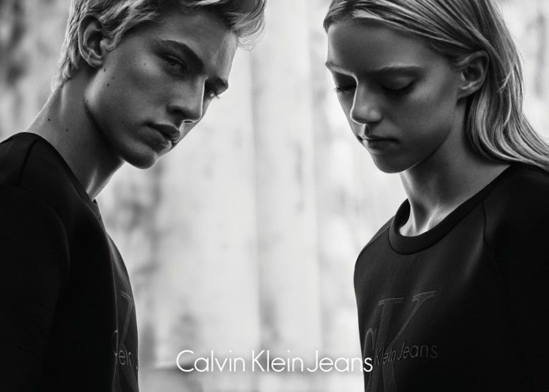 Lucky Blue Smith Fronts Calvin Klein Jeans Black Series Limited Edition Campaign