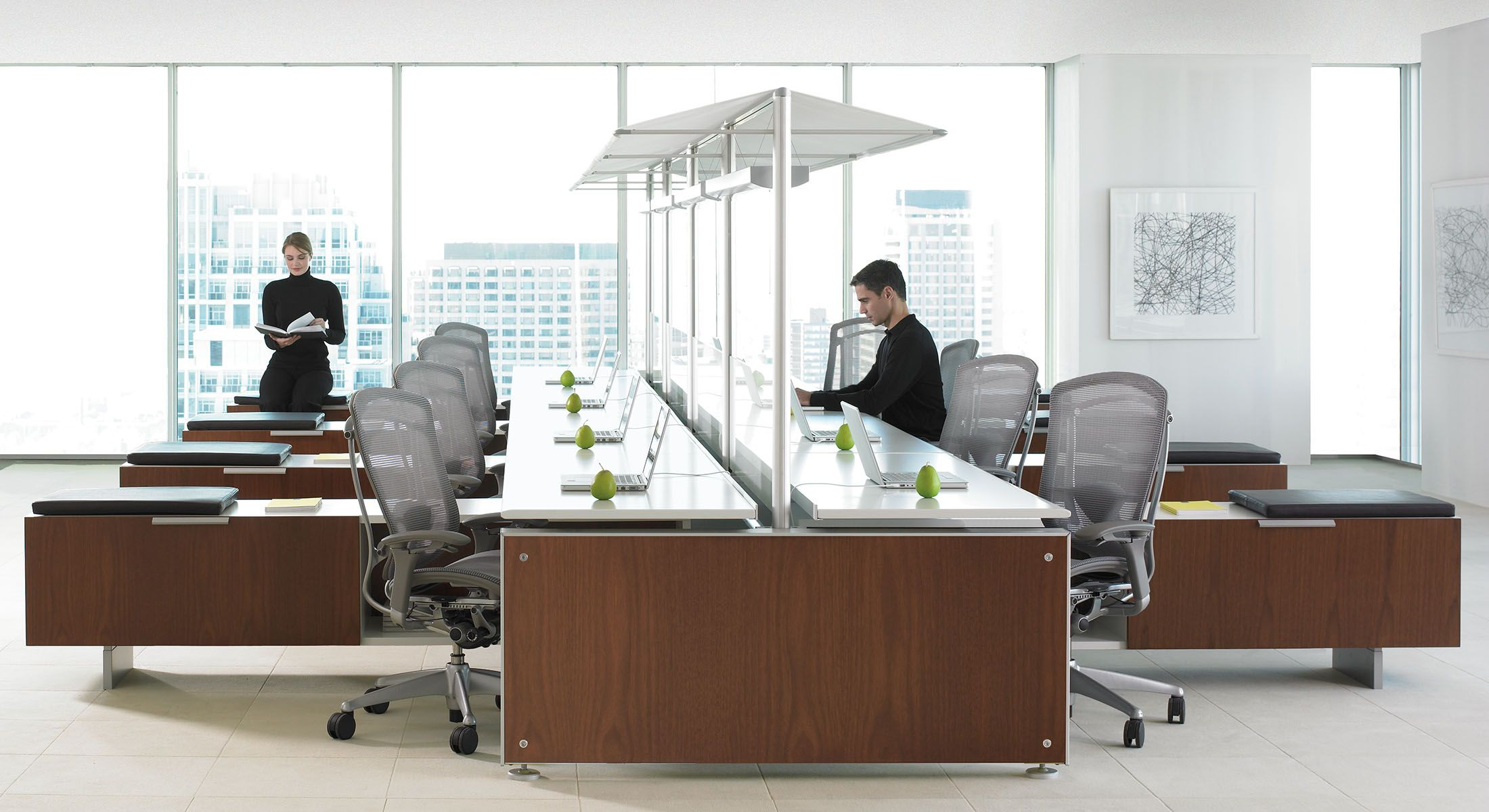 Marketplace Benching Desks Teknion Office Furniture