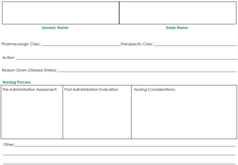 Drug Card Template Nursing School Notes Pharmacology Inside Pharmacology Drug Card Template Callforpcissues Review