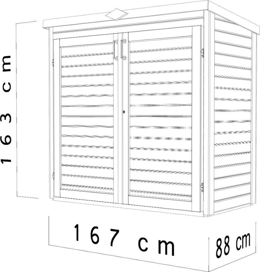 Wandschrank Pulti 13 Wandschrank, Wände und Schrank