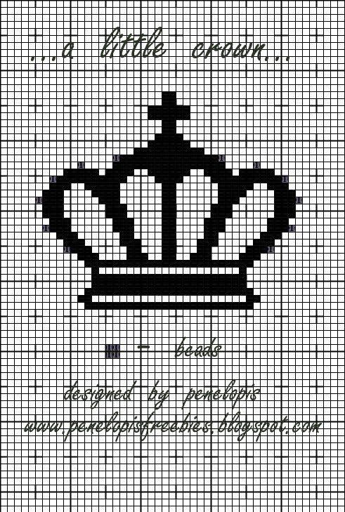 Penelopis' cross stitch freebies: Mala korona/ A little crown...