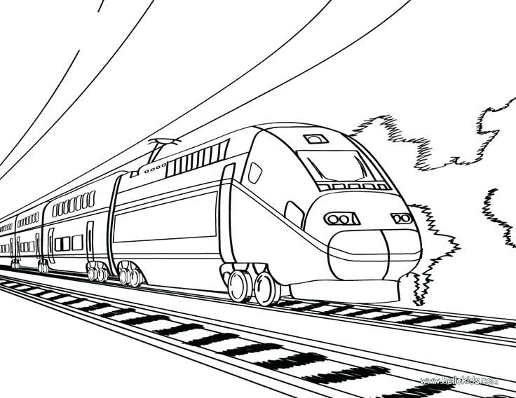 Coloring Pages Of Trains Train Book