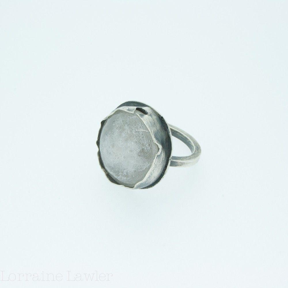 Lorraine Lawler - Trash Clear Glass Round Silver Ring