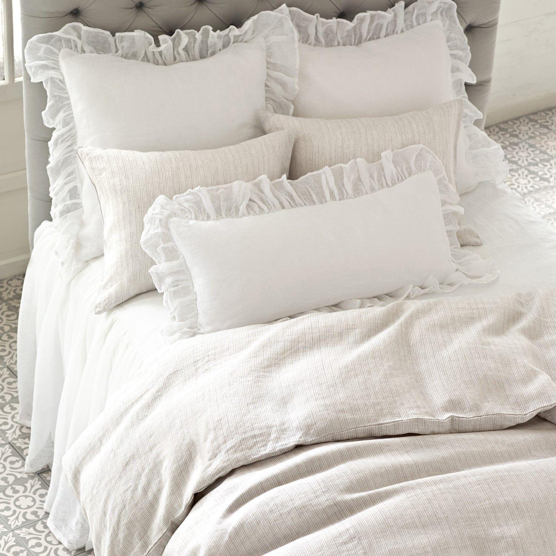 Pine Cone Hill Savannah Linen White Gauze Pillow Shams $74.00   $84.00