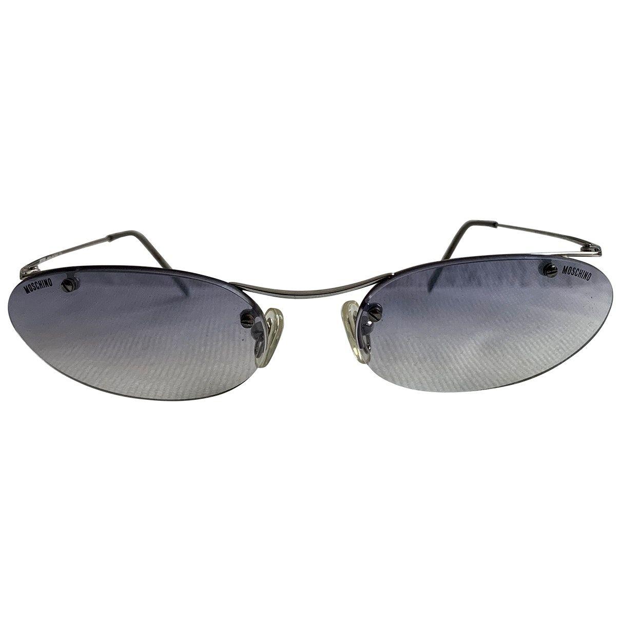 Moschino – Lunettes pour homme en métal – violet