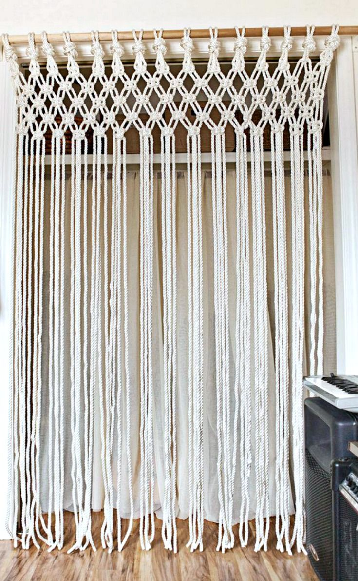 Make Your Own Macrame Curtain Diy Home Decor Projects