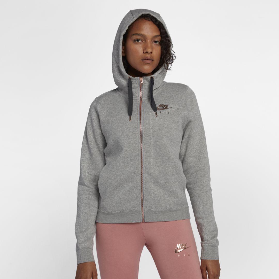 2e86226dcbcb Nike Sportswear Rally Fleece Women s Full-Zip Hoodie Size L (Dark Grey  Heather)
