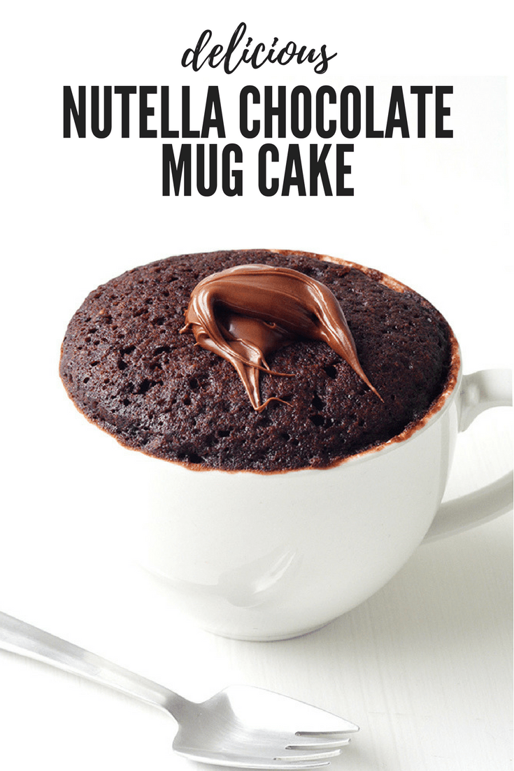 Nutella Chocolate Mug Cake For One - Sweetest Menu