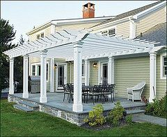 #pergola based on both sides, even up against house - how we'd need to do it.