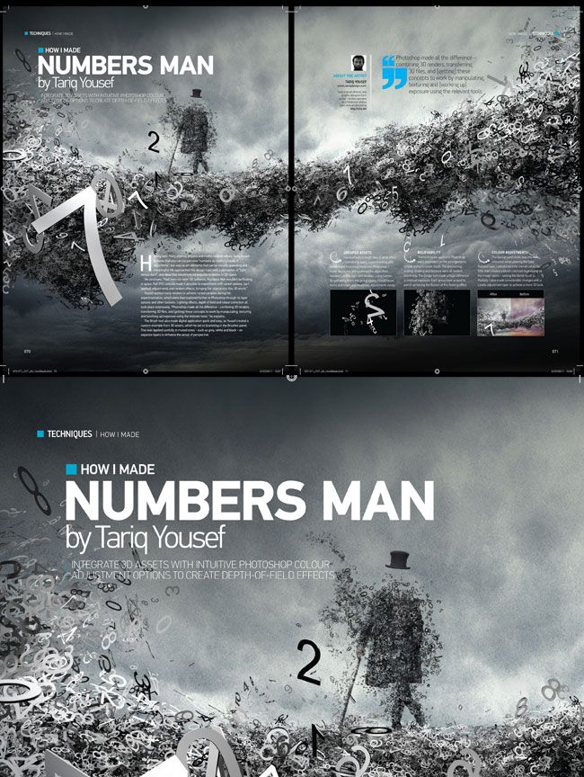 Number Man http://advancedphotoshop.co.uk/back_issues.php
