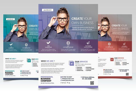 Create Business  Psd Flyer Template By Fidan Selmani On