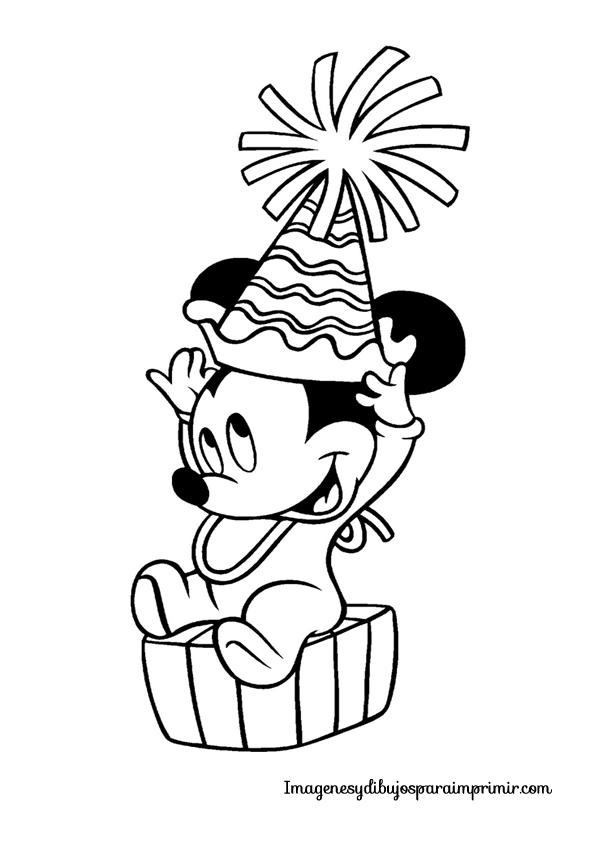 Lujo Colorear El Cumpleaños Del Clubhouse Mickey Mouse Para Colorear ...
