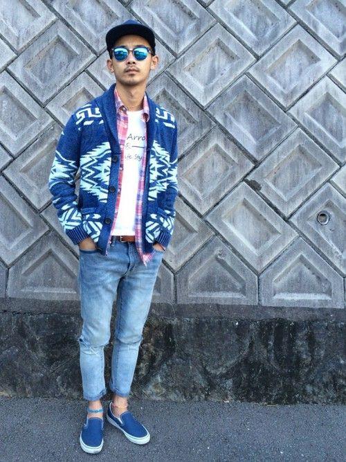 Syota Threearrows Ron Hermanのカーディガンを使ったコーディネート Wear カーディガン メンズ コーデ ファッションアイデア ファッション