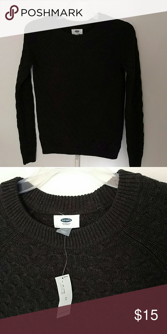 Old Navy cotton blend sweater New with tags. Dark grey honeycomb knit. Old Navy Sweaters Crew & Scoop Necks