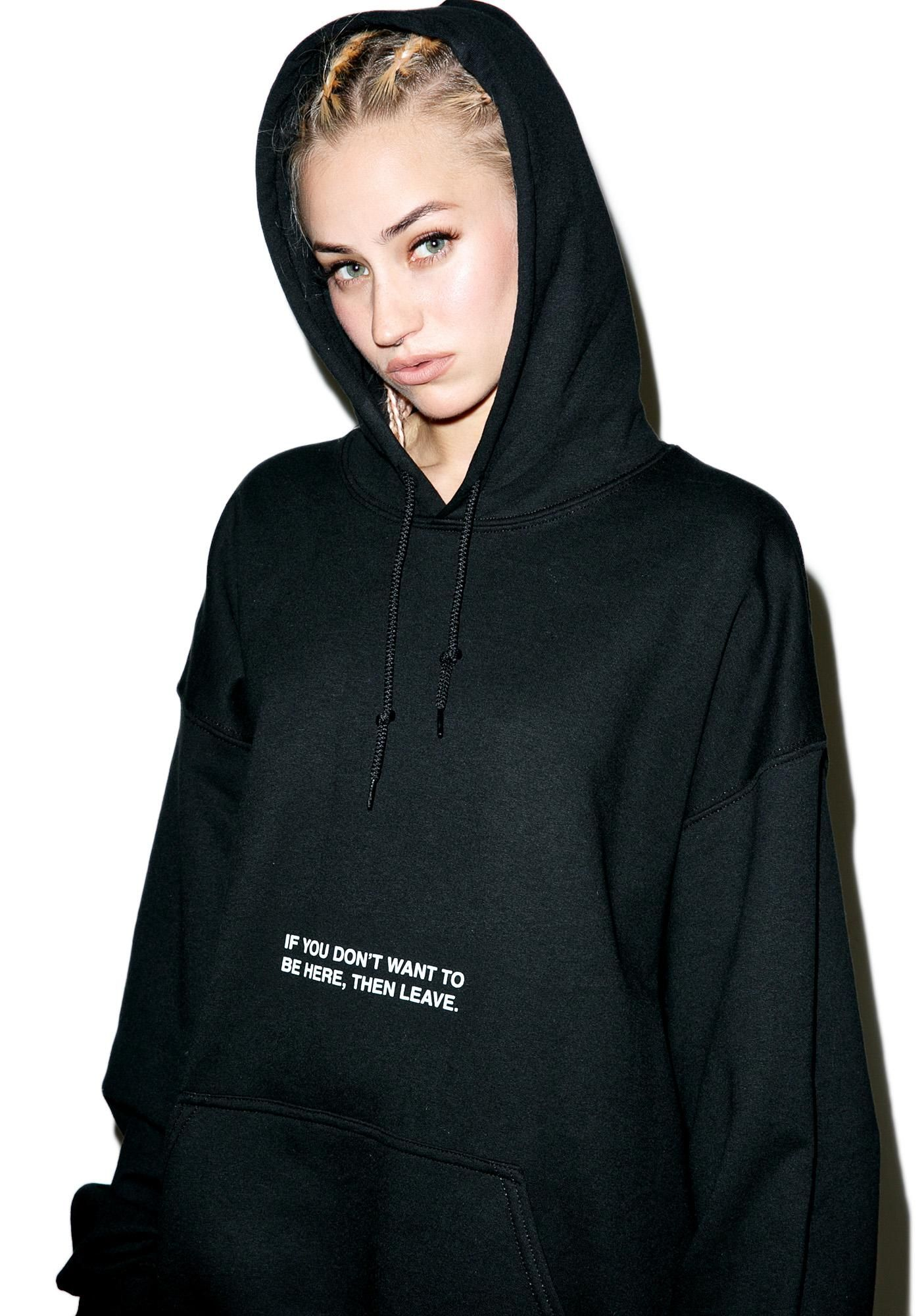 Danielle Guizio Sortez Oversized Hoodie GTFO. Show yer haters where da doors at with this