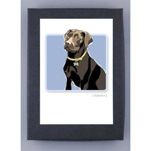 Amazon Com Lab Choco 1 Prints Posters Prints West Coast Artists Chocolate Labrador Boxed Note Cards