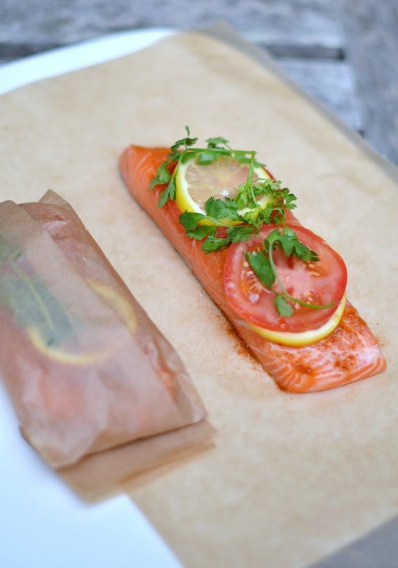 20 Minute Indian Salmon in an Envelope