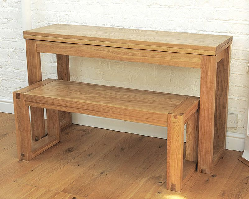 Oak Console Table Fancy London flat Pinterest Console tables