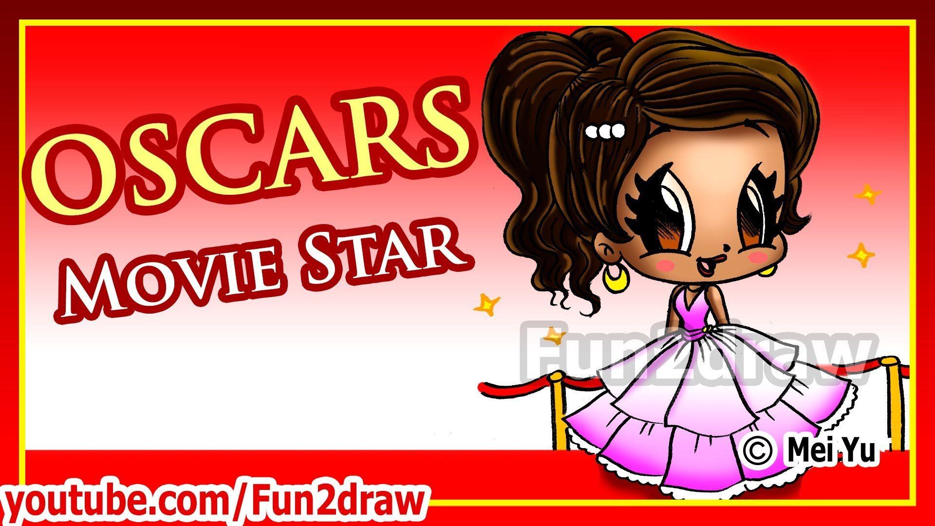How to draw oscars beautiful movie star fun2draw for Fun to draw people