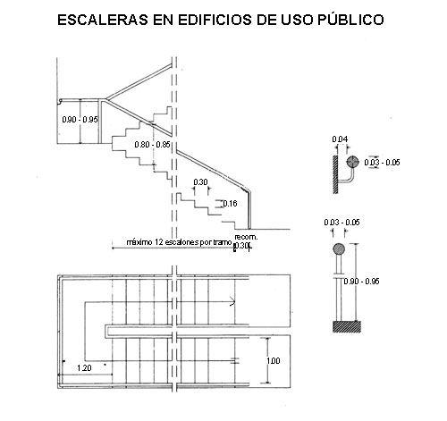 Resultado de imagen para escaleras medidas reglamentarias for Medidas escaleras
