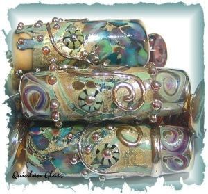 gorgeous handmade glass beads by TexasSwede