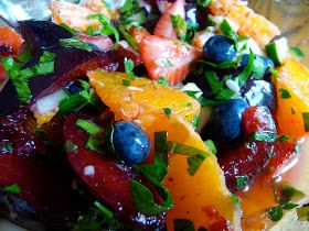 The Daily Dietribe: Summer Fruit and Herb Salad with Cucumbers